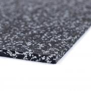 Sportovní gumová podlaha do fitness PROFI  CF 8 mm černo-šedá 30% vsyp